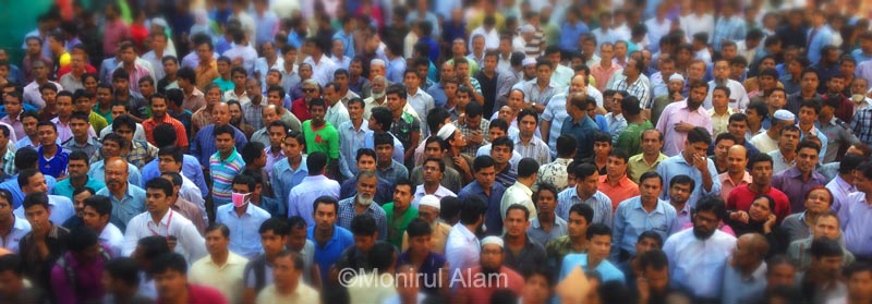 the current population [ September, 2013 ] of the city of Dhaka, Bangladesh is estimated to be about [7,001,000 ] which is about equal to the last record of the population. ©Monirul Alam